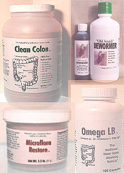 Alpha Omega internal cleansing products