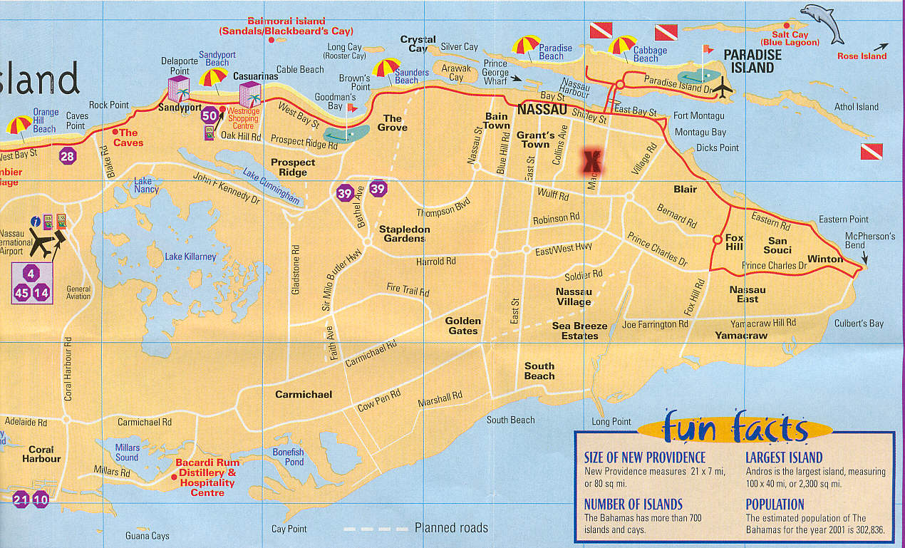 Nassau Bahamas Map Downtown – Nassau Bahamas Tourist Map