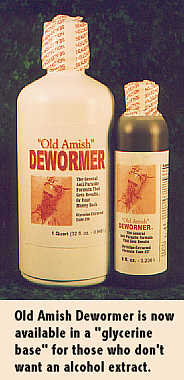 Amish dewormer